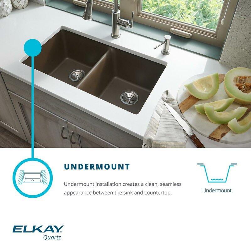 Elkay quartz classic 33 x 19 double basin undermount kitchen sink quartz classic 33 x 19 double basin undermount kitchen sink workwithnaturefo