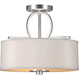 Savings Bradninch 3-Light Semi-Flush Mount By House of Hampton