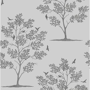 Tree And Bird Wallpaper Wayfair