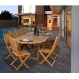 Mcpeters International Home Outdoor 11 Piece Teak Dining Set