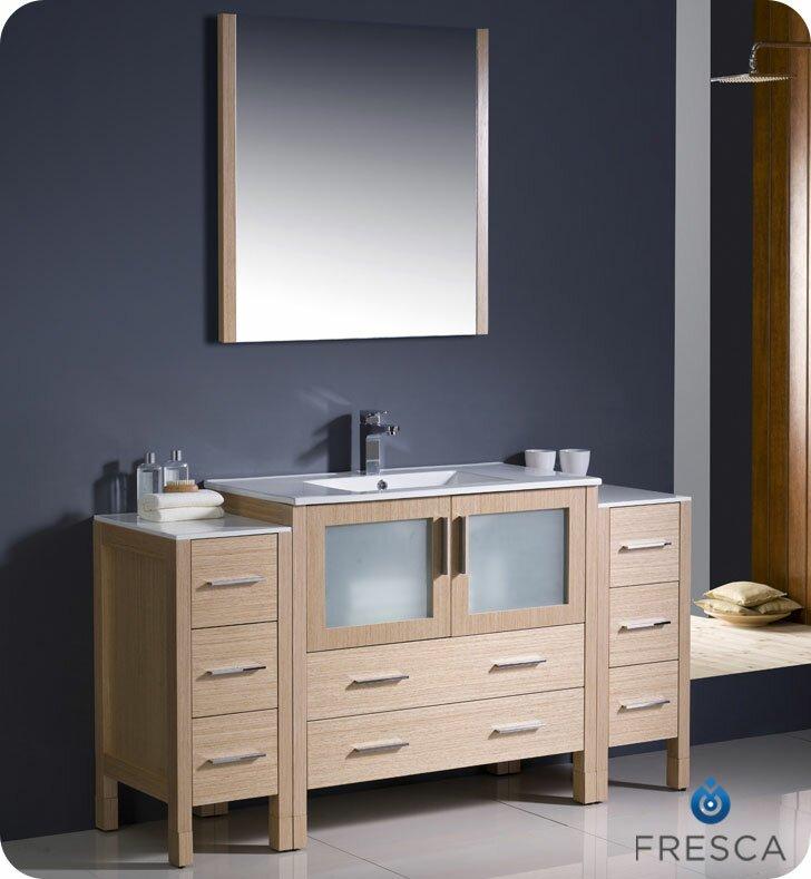 Torino 60 Single Bathroom Vanity Set With Mirror