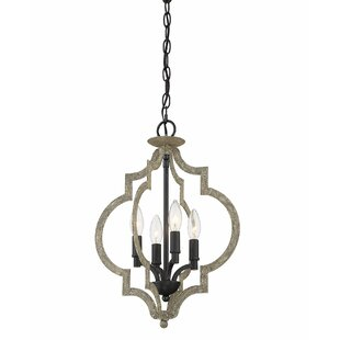 Grahm 4-Light Geometric Chandelier by Bungalow Rose