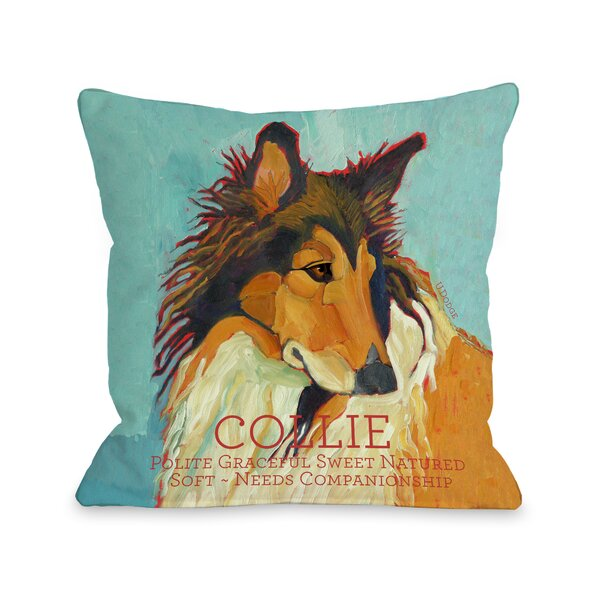 Winston Porter Kaelan Collie Throw Pillow Wayfair