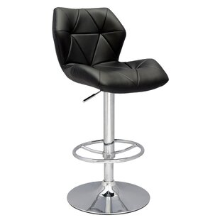 Pneumatic Gas Adjustable Height Swivel Bar Stool by Chintaly Imports