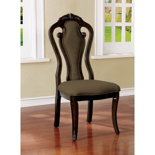 Fleur Upholstered Dining Chair (Set of 2) Astoria Grand