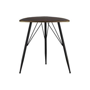 Union Rustic Petersham Triangular Metal End Table