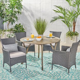 August Grove Murdock 5 Piece Dining Set with Cushions