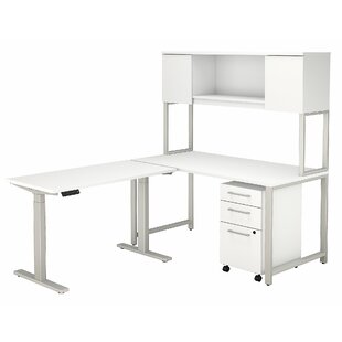 Bush Business Furniture 400 Series L-Shaped Desk Office Suite