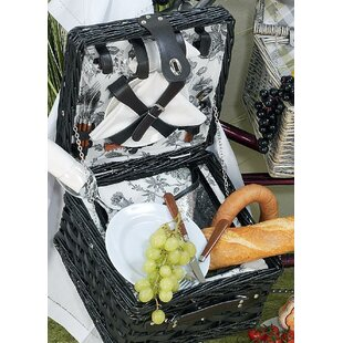 Dorset Picnic Basket (Set Of 2) By August Grove