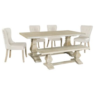 Chambord Dining Set With 4 Chairs And One Bench By Fleur De Lis Living
