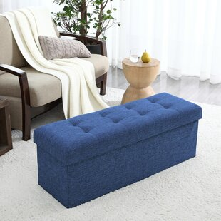 Hiroko Upholstered Storage Ottoman by Andover Mills