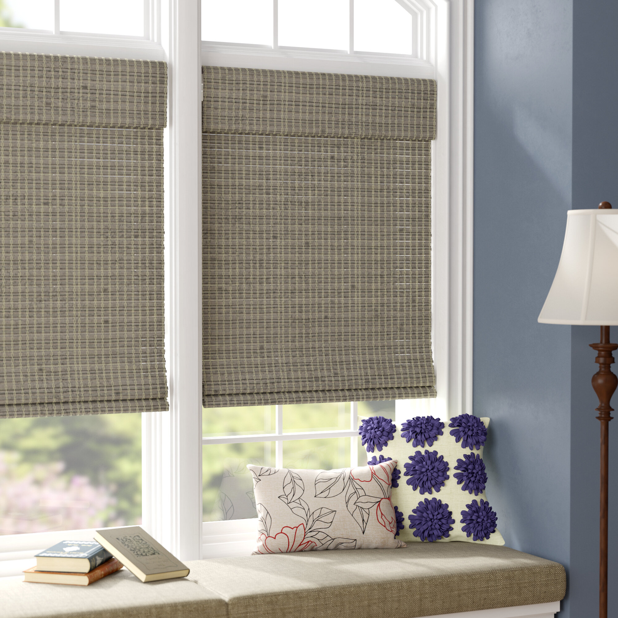 Charlton Home Room Darkening Roman Shade Reviews Wayfair