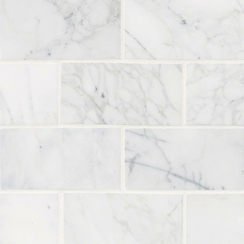 Calacatta Cressa Honed 3 X 6 Marble Subway Tile In White Reviews