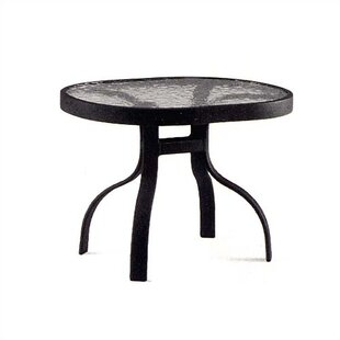 Deluxe Obscure Glass Aluminum Side Table
