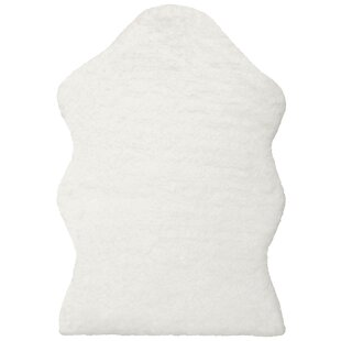 Best Reviews Maxen Micro Sheep White Area Rug ByMillwood Pines