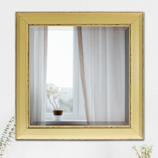 Highland Dunes Contemporary Square Plastic Framed Wall Mirror