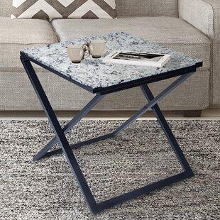 Cushman Granite/Metal End Table by Ivy Bronx #2