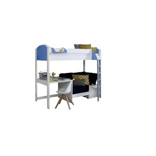 On Sale Trevino Single High Sleeper Loft Bed With Shelf And Desk