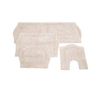 Shera 4 Piece Bath Rug Set