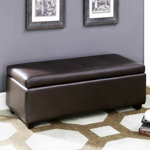 Mullin Leather Storage Ottoman..