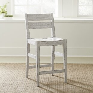 Libertyville Slat Back 24 Bar Stool (Set of 2) by Highland Dunes