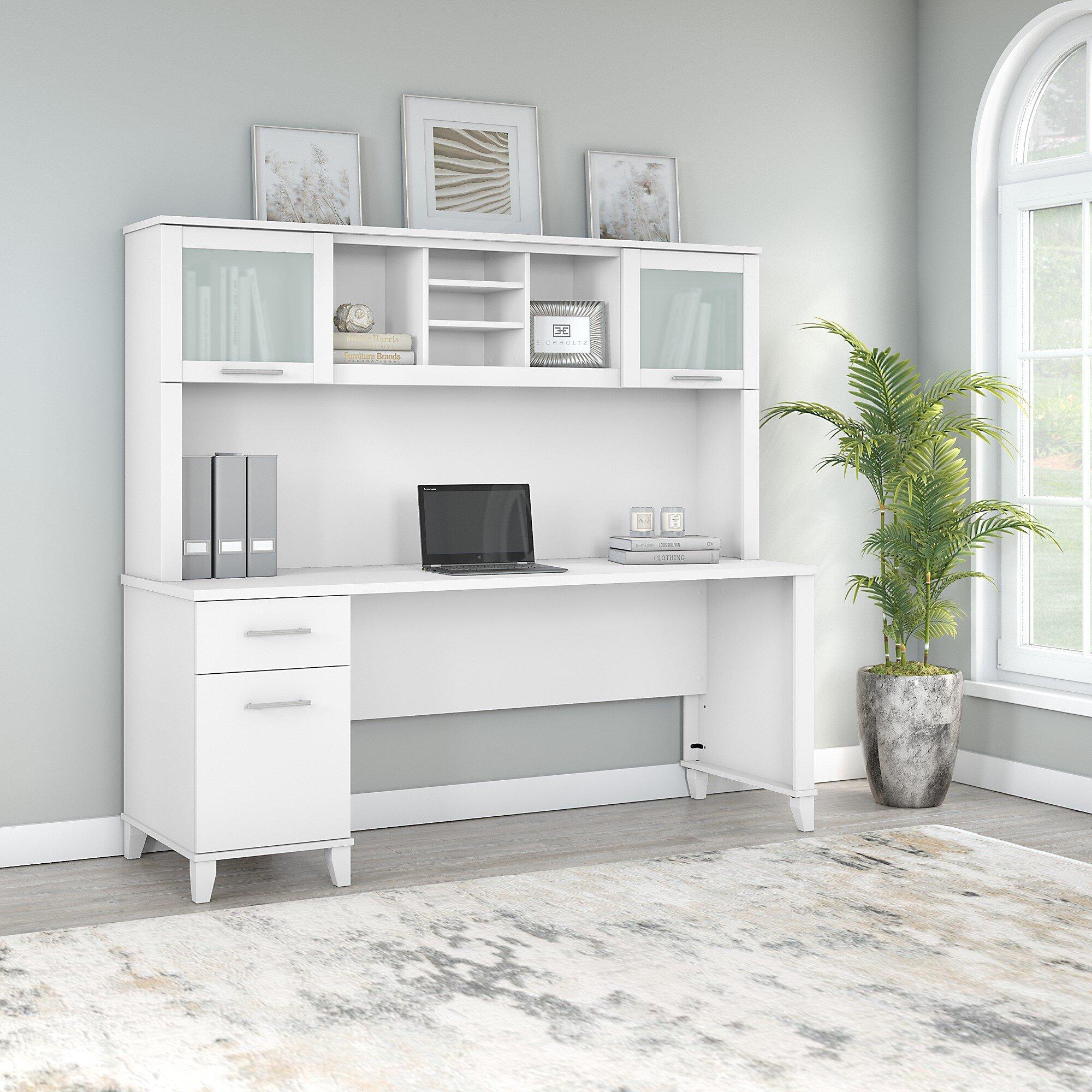 Hutch White Desks You Ll Love In 2021 Wayfair