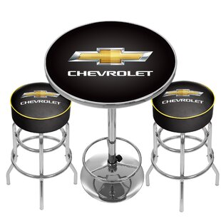 Chevrolet Game Room Combo 3 Piece Pub Table Set Trademark Global