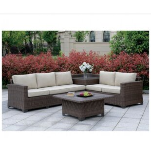 Mcintyre 6 Piece Rattan Sofa Seating Group with Cushions