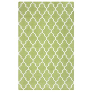 Hand Woven Light Green Area Rug