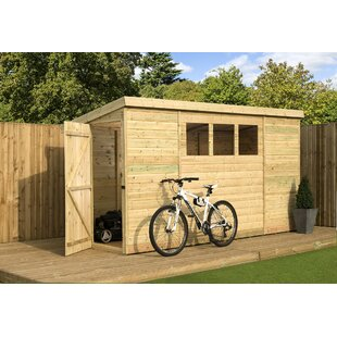3 Ft. W X 9 Ft. D Shiplap Pent Wooden Shed By WFX Utility