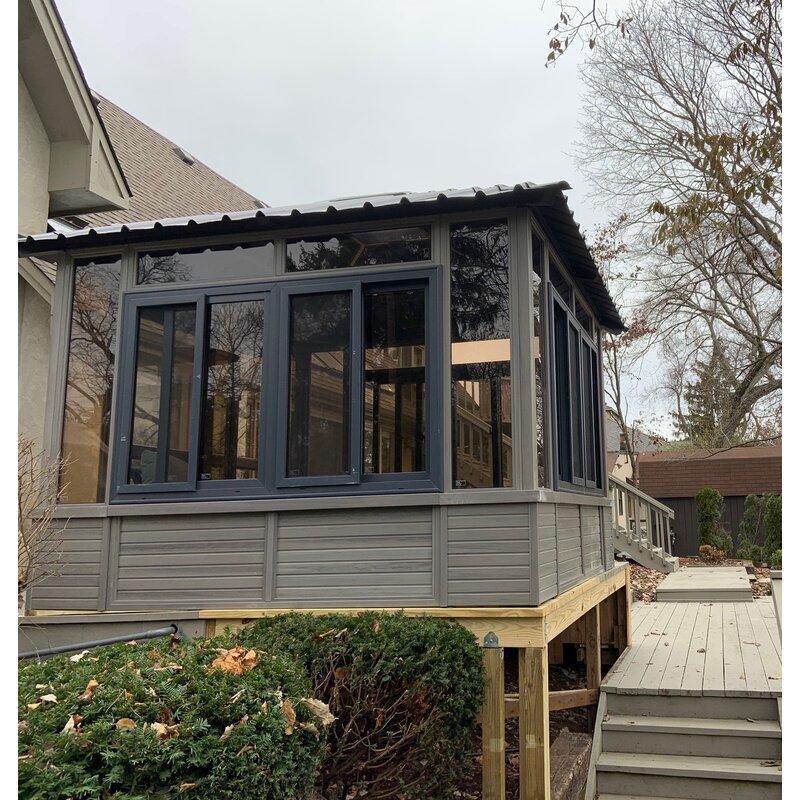 Denali Backyard Studio 9.5 Ft. W x 9.5 Ft. D Solid Wood Patio Gazebo