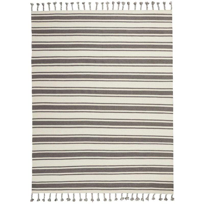 Gray Striped Area Rug