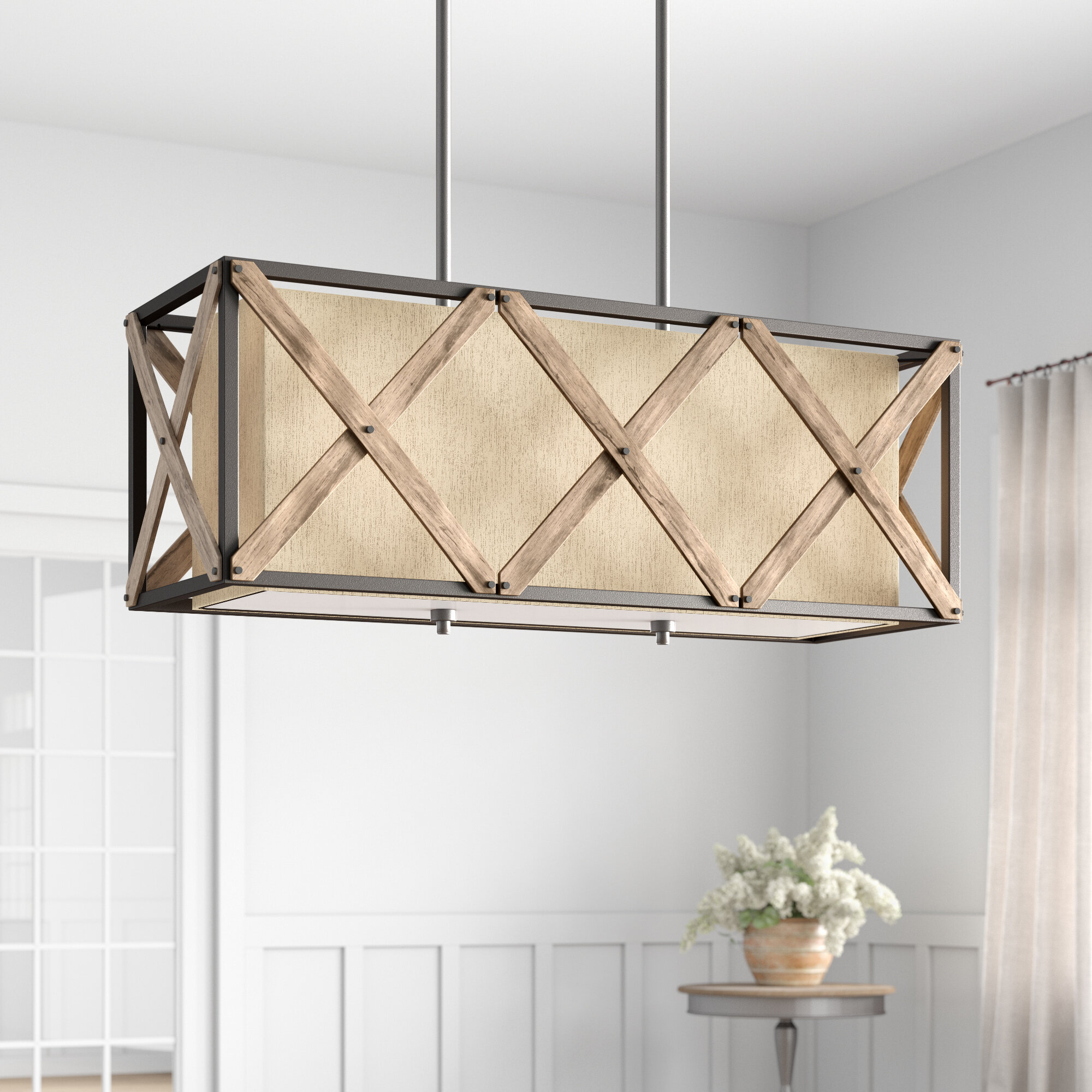 Simmons 3 Light Kitchen Island Rectangle Pendant Reviews Birch Lane