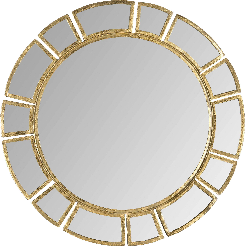 Birksgate Round Antique Gold Patina Sunburst Wall Mirror Reviews Allmodern