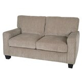 Palisades Microfiber 61 Square Arm Loveseat by Serta at Home