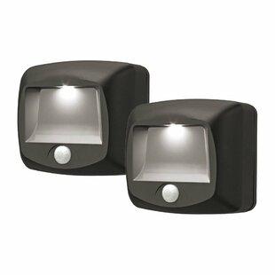 Mr. Beams Motion Sensing Security 1 Light LED Step Light (Set of 2) (Set of 2)