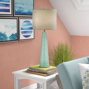 Deals Oconee Tinted Glass 29.5 Table Lamp By Highland Dunes