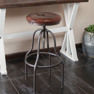 Chauntel Adjustable Height Swivel Bar Stool by 17 Stories