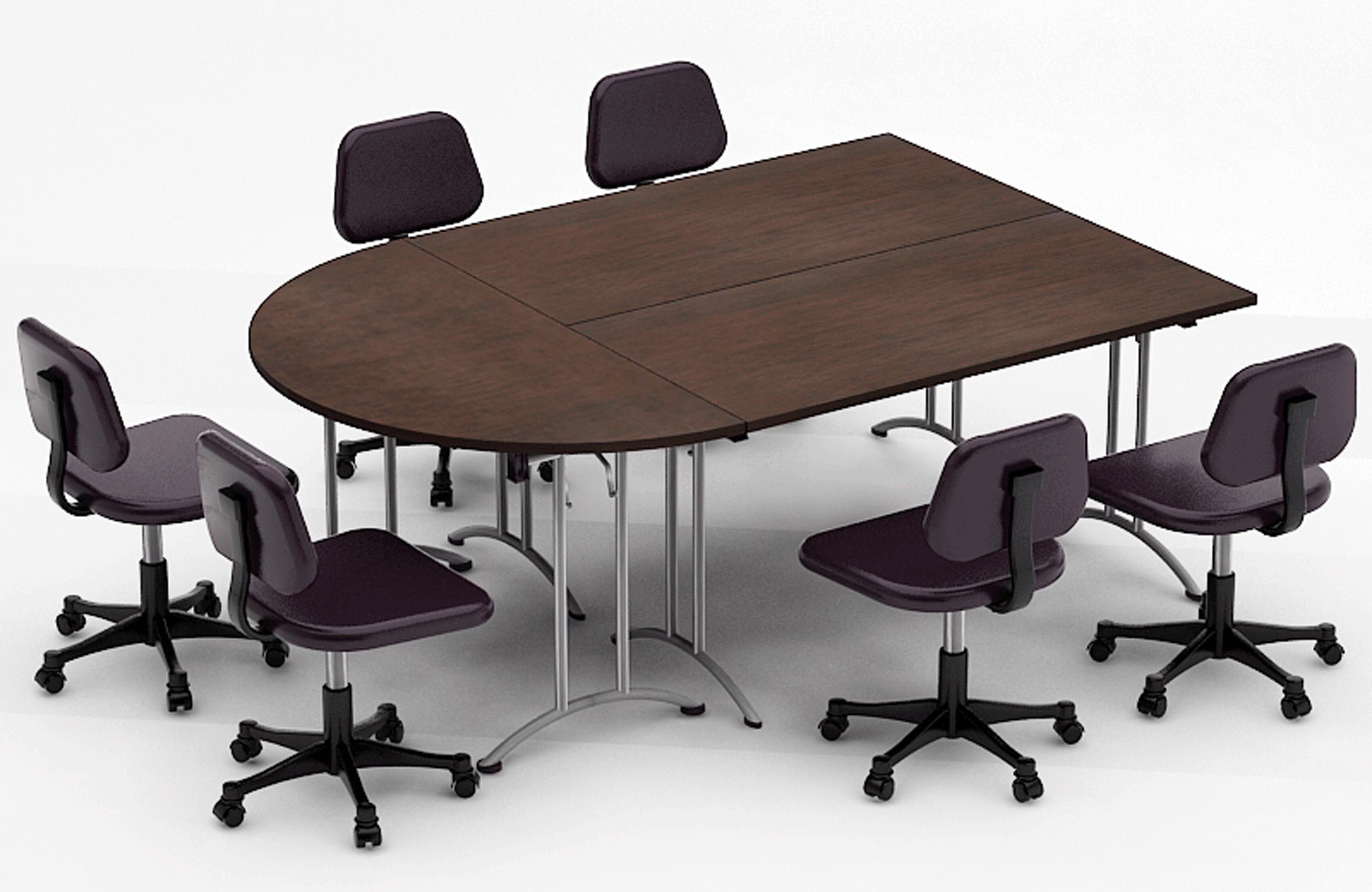 Picture of: Team Tables Meeting Seminar 3 Piece Half Round Conference Table Set Wayfair