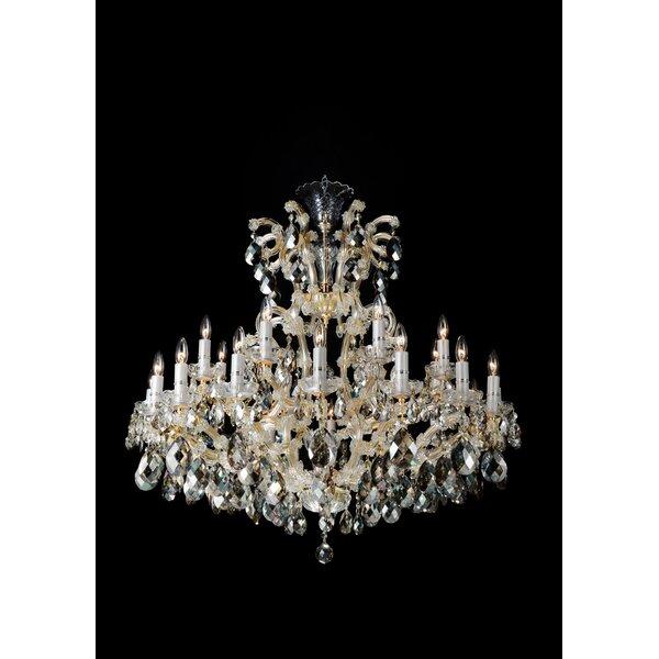 Michael amini la scala 25 light candle style chandelier wayfair aloadofball Images