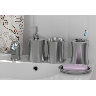 Rebrilliant 4 Piece Bathroom Accessory Set