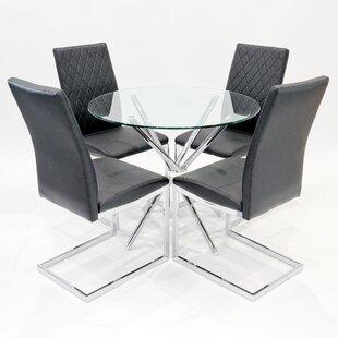 Brompton Circular Dining Set With 4 Chairs By Metro Lane