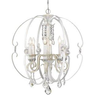 Hardouin 6-Light Globe Chandelier by Willa Arlo Interiors