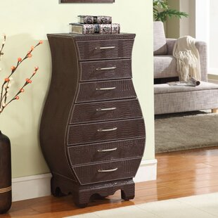 Wildon Home ® Coco Jewelry Armoire with Mirror