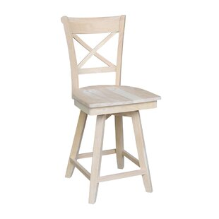 Hollaway 24 Swivel Bar Stool August Grove