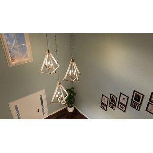 Union Rustic Loper 4-Light Geometric Chandelier