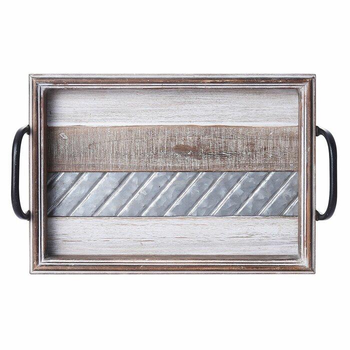 Excellent Bellingham Rustic Stripe Ottoman Tray Evergreenethics Interior Chair Design Evergreenethicsorg