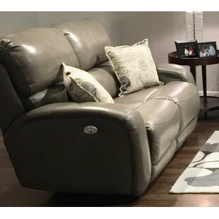 Fandango Power Leather Reclining Loveseat by Southern Motion