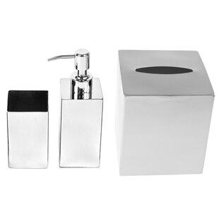 Nemesia 3-Piece Bathroom Accessory Set By Gedy by Nameeks
