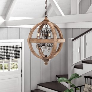Montecito 4-Light Globe Chandelier by Ophelia & Co.